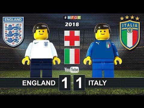 England vs Italy 1-1 • Friendly match 2018 (27/03) Inghilterra Italia Goals Highlights Lego Football