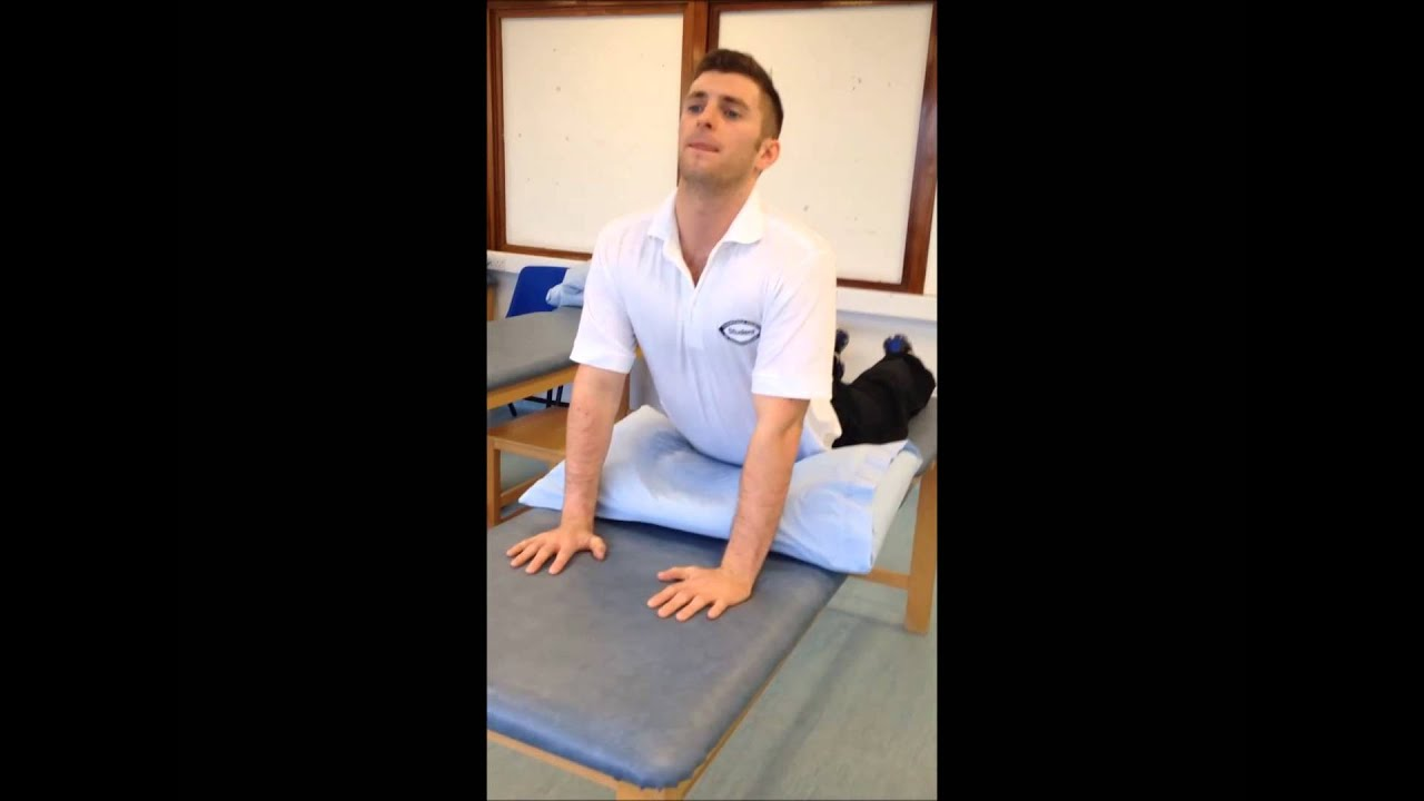mckenzie low back exercises pdf