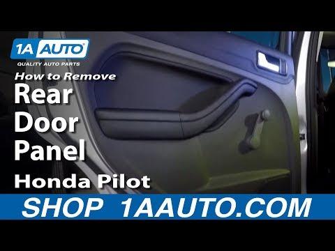 How To Remove Rear Door Panel Honda Pilot 03-08
