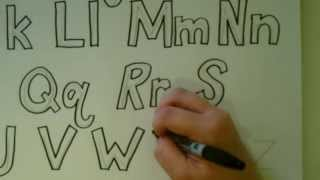 How to Draw Block Letters: Alphabet Tutorial
