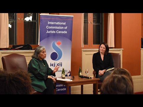 Responding to the Refugee Crisis: Professor Jennifer Bond with Senator Ratna Omidvar