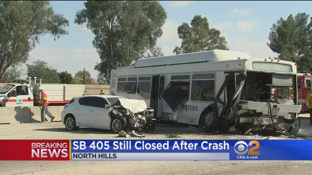 Dozens Hurt In Bus Crash On 405