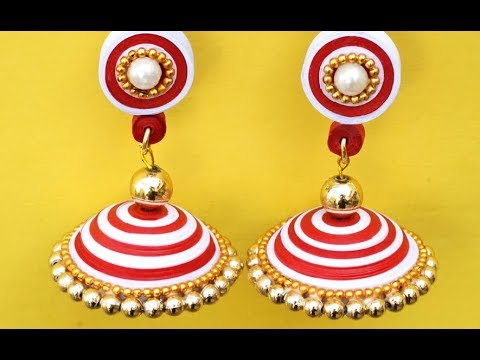 How to Make Paper Earrings Jhumka | Paper Quilling Tutorial | Quilled Earrings Tutorial