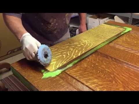 faux wood graining quarter-saw oak
