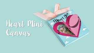How to Make a Heart Mini Canvas!
