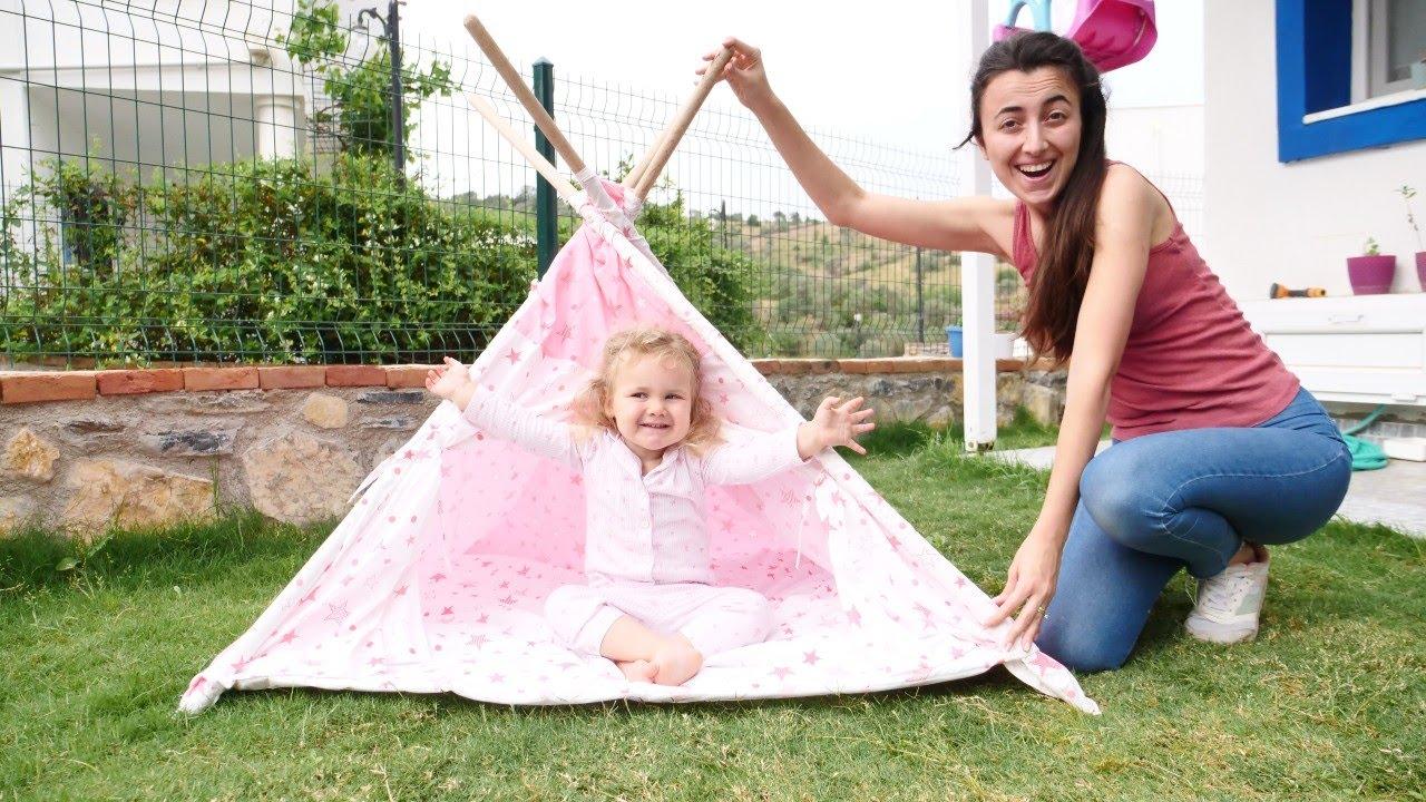 Anne bebek oyunu. Sevcan Derin için bahçede çadır kuruyor! Çocuklar için eğitici oyunlar