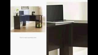 computer desk 2014 office l shaped desk with 2 shelves