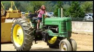 LITTLE Girl drives BIG Tractor in COMPETITION @ Middlecreek