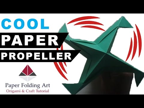 How to Make Paper Propeller-Origami Propeller-How to Make Paper Windmill Propeller-Paper Folding Art