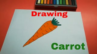 HOW TO DRAW A CARROT STEP BY STEP FOR KIDS l DRAWING EASY