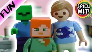 PLAYMOBIL FILM DEUTSCH - Timo in der Minecraft-Welt - Spiel mit mir Kinderspielzeug