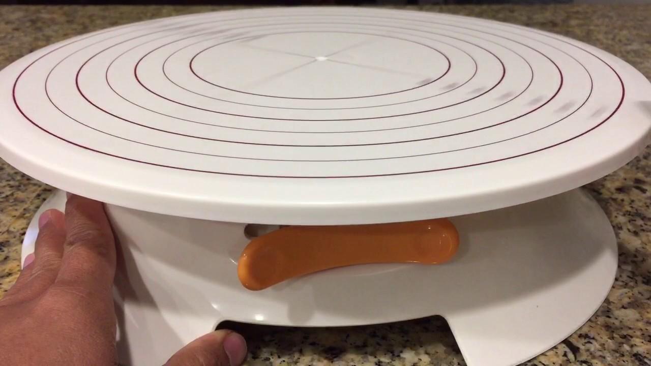 Svebake Cake Stand Plastic Rotating Cake Decorating Turntable With