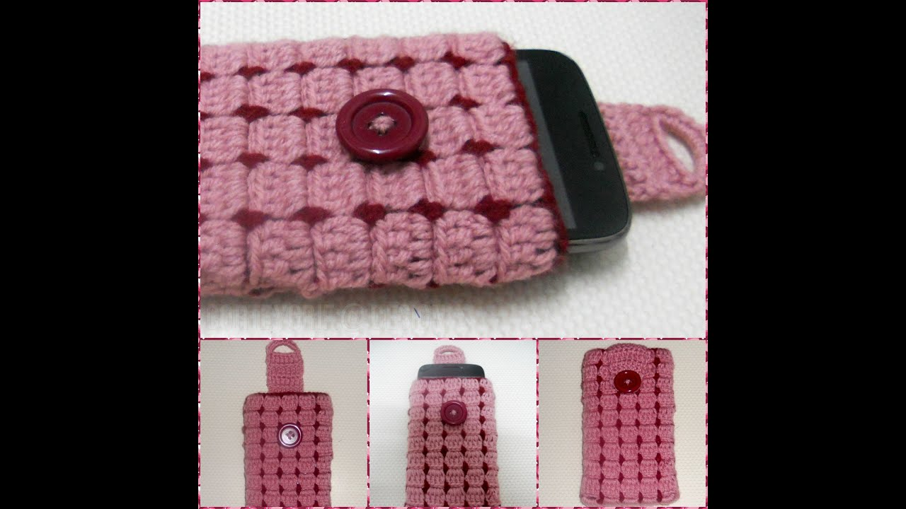 Crochet Book Cover Tutorial : Cell phone case part crochet tutorial hackovanie