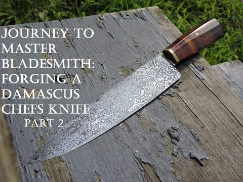 Forging A Damascus Chef Knife Part 2