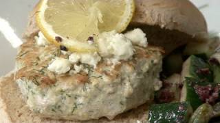 Healthy Feta Turkey Burgers