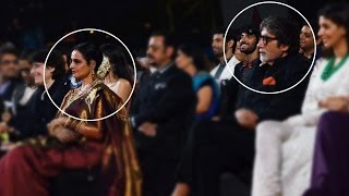 When Amitabh Bachchan Was Sitting Near  Rekha At Star Screen Awards 2016