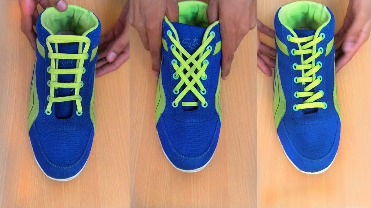 d61926ddc456 5 Awesome Ways To Lace Your Shoes - YouTube