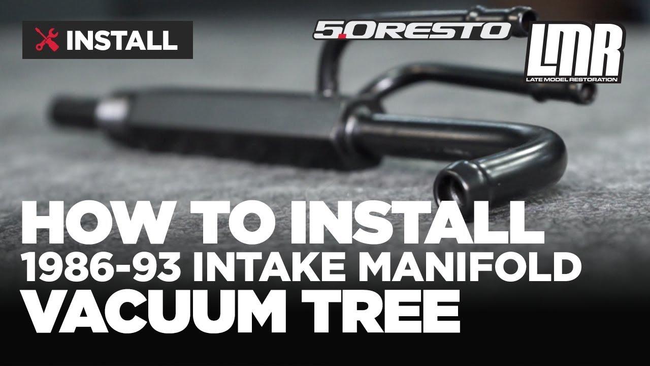 medium resolution of 1986 1993 mustang 5 0 resto intake manifold vacuum tree install review