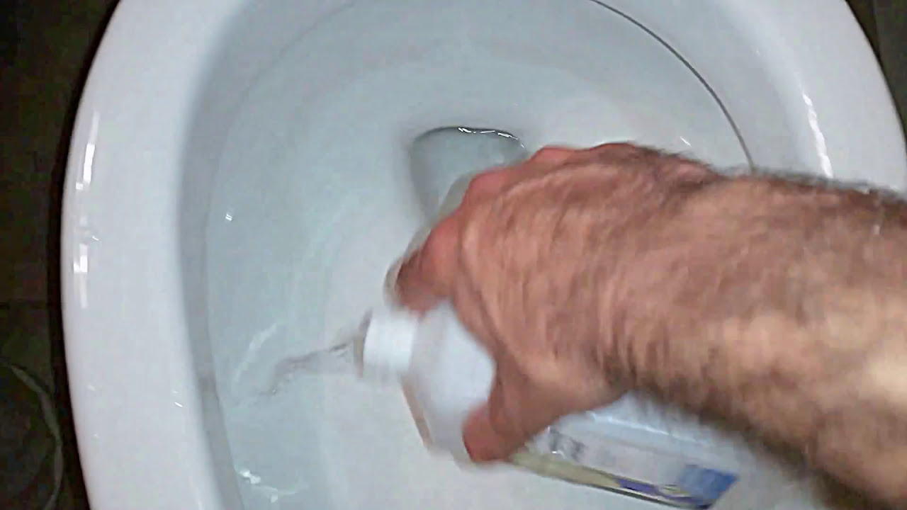 Remove Hard Water Stains From Toilet Bowl With Rubbing Alcohol ...