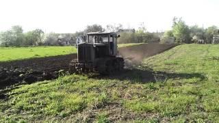 Трактор Т-74 - в работе