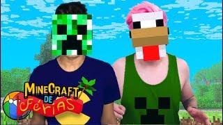 MÁSCARAS DE MONSTROS! (Minecraft de Férias) #6