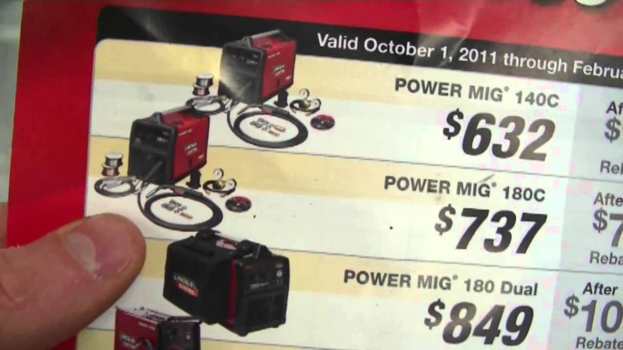 Lincoln Electric Mig Welder >> Review of Power Mig 180c Welder by Lincoln Electric - YouTube
