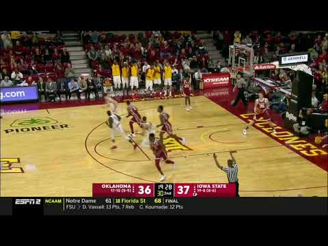 Iowa State Men's Basketball Highlights vs Oklahoma