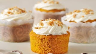 Pumpkin Cupcakes Recipe Demonstration - Joyofbaking.com