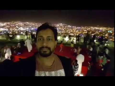 GREEN MOUNTAIN -ABHA ,SAUDI ARABIA  NIGHT VIEW IN CABLE CAR VIEW
