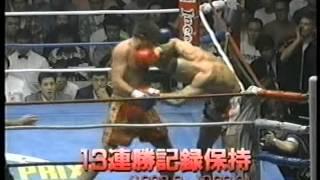 K-1GP'97準々決勝のピーター・アーツとマイク・ベルナルドの煽り...