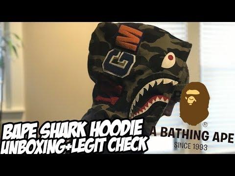 Bape Shark Hoodie Unboxing + Legit Check!