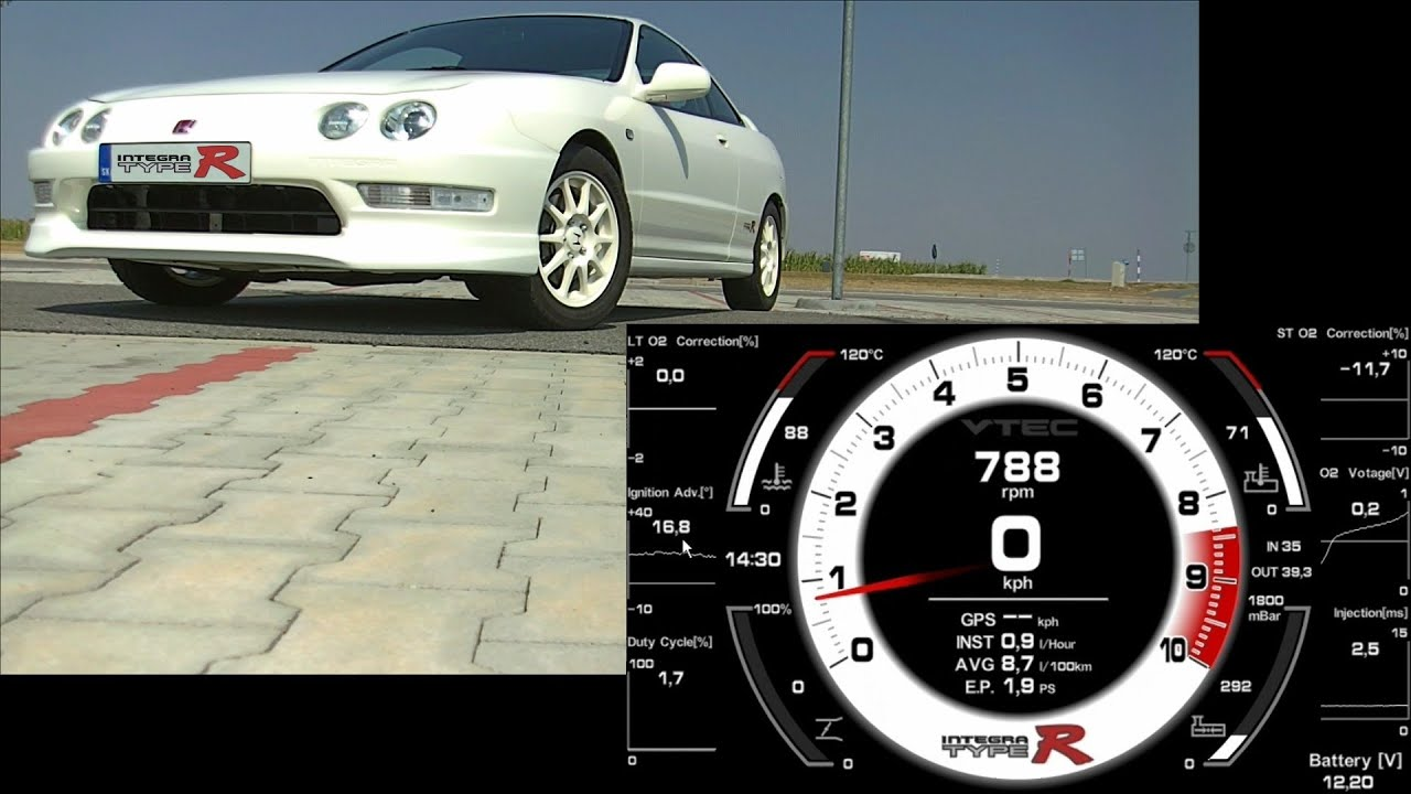 Hondash Prototype - Virtual Dash - ECU OBD1 OBD2A Honda