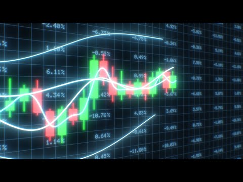 3D Candlestick Chart Crypto Exchange Finance Market Data Graph Price 4K Moving Wallpaper Background