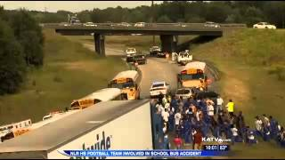NLRHS football team in school bus accident on I 40.