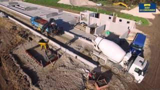 AVRY LE CORVAISIER/Bâtiment d'élevage/maçonnerie/fosse sous caillebotis/vaches laitières
