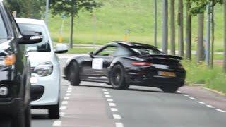 CRASH! Porsche 911 Turbo loses control and slams the curb !!