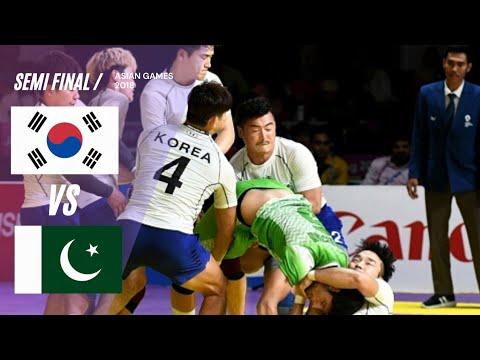 Semi Final Kabaddi PAKISTAN Vs SOUTH KOREA Asian Games 2018