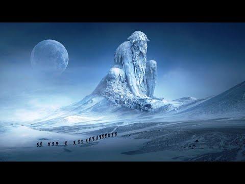Beautiful Meditation Music with Snowy Mountains and Ice Formations, Relaxation Music, Sleeping Music
