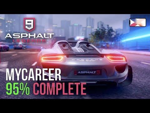 ASPHALT 9: LEGENDS - My Career Progress 95% Complete