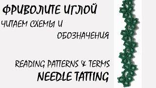 Needle tatting. Reading patterns & terms / Фриволите иглой. Читаем схемы и обозначения