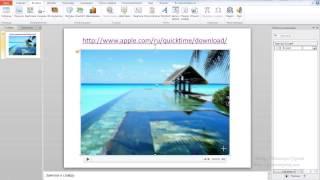 Вставка видео в MS PowerPoint 10