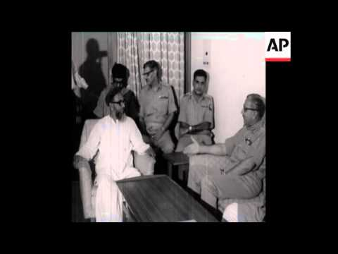 UPITN 8 4 71 EAST PAKISTAN LEADERS MEET IN DACCA