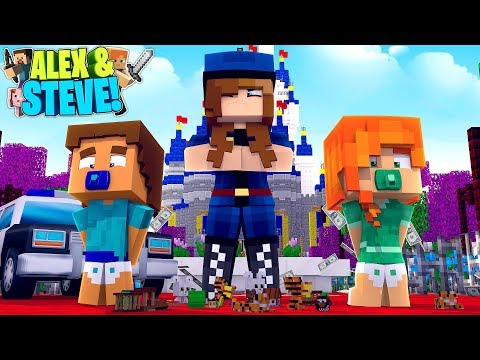 Minecraft LIFE OF ALEX & STEVE   BABY ALEX AND BABY STEVE GET ARRESTED!!!