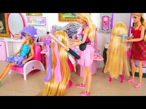 Pink Hair Salon, Hair Braiding Machine, Steam Hair Spray Puppe Friseursalon Salon De Coiffure Boneka