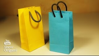 How to make a paper bag with their hands. A very simple way.