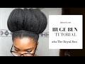 NATURAL HAIRSTYLE ON 4C BLACK NATURAL HAIR- Royal BUN with JUST ONE BOBBY PIN (09)