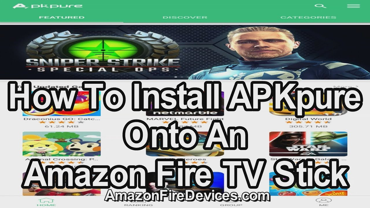 How to install APKpure onto an Amazon Fire TV Stick - Google Play Store  alternative APK installer