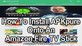 Gambar cover How to install APKpure onto an Amazon Fire TV Stick  - Google Play Store alternative APK installer
