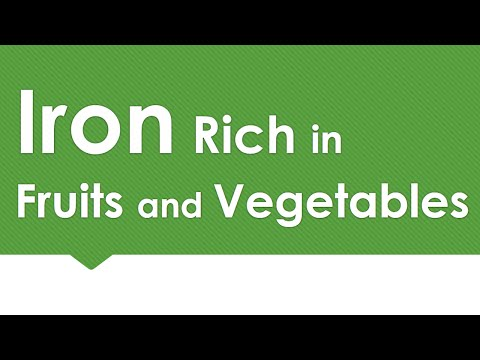 Iron Rich in Fruits and Vegetables - NATURAL MINERALS IN FOODS - BENEFITS OF WELLNESS
