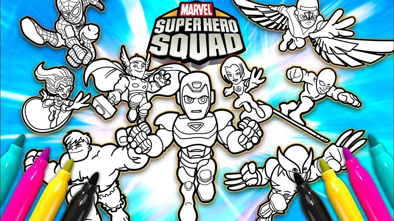 Super Hero Squad Team Up Coloring Page